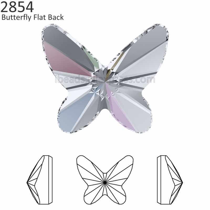 (1 piece) 100% Original Crystals from Swarovski 2854 Butterfly flat back no  hotfix 5fb4592d3952