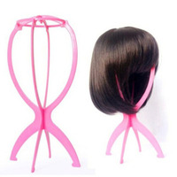 3pcs Plastic Folding Stable Durable Wig Stands Women Wig Stand Hair Head Hat Cap Display Holder