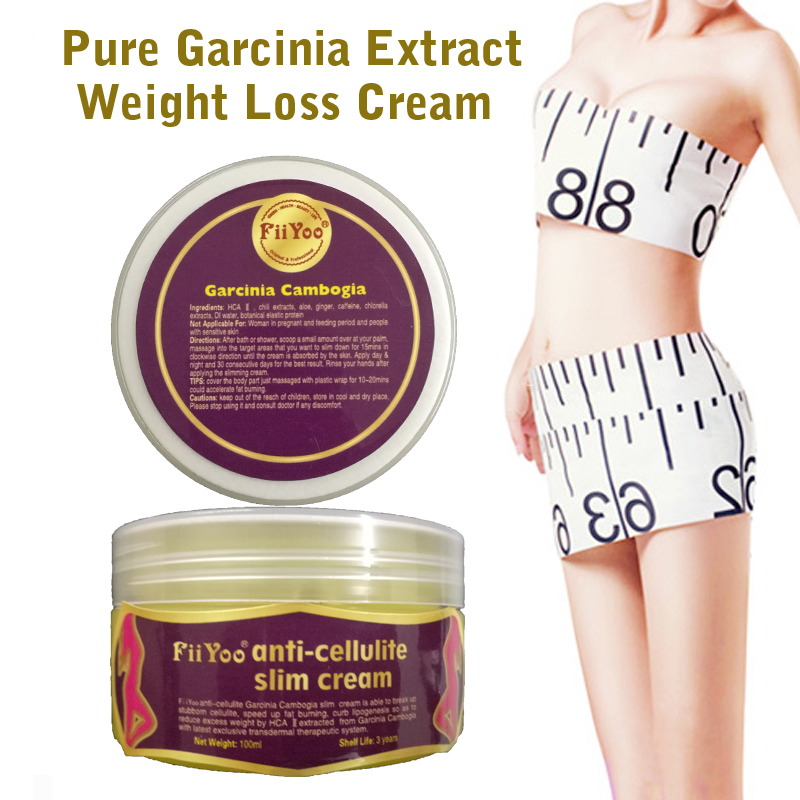 FiiYoo pure garcinia cambogia extracts anti cellulite creams Fat Burning Weight Loss effective Slimming Creams 3 packs 75% hca garcinia extracts slim product