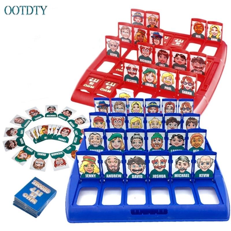 ¿Quién es el juego de mesa clásico divertido familia Guessing juegos niños juguete regalo #330
