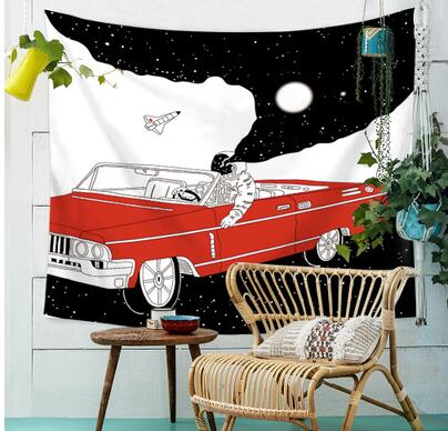 cartoon painting tapestry Bedside hanging wall cloth decorative background cloth rug blanket throw home decor