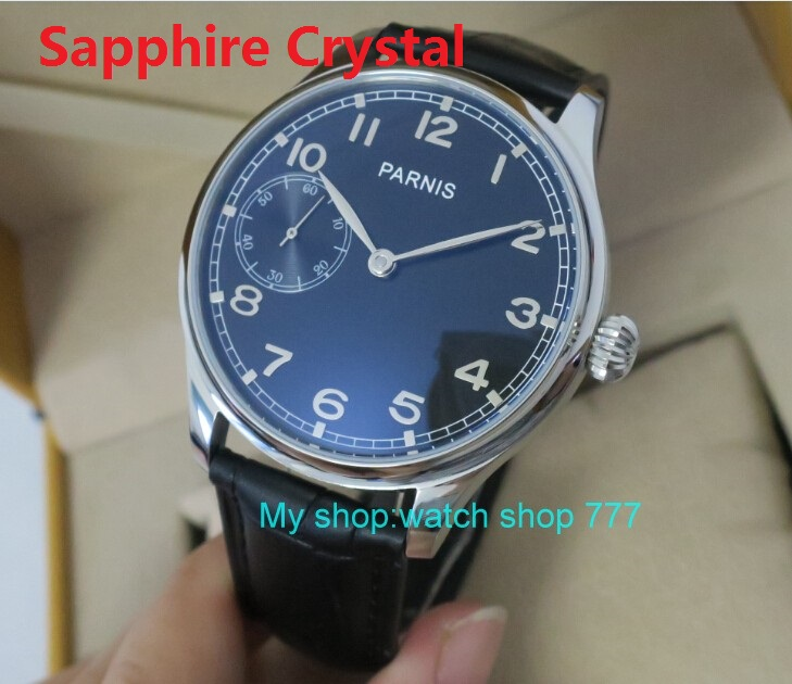 Sapphire Crystal 44mm PARNIS Black dial ST3600 Gooseneck Mechanical Hand Wind movement Mechanical watches men's watches fxy11 sapphire crystal 44mm parnis st3600 6497 gooseneck mechanical hand wind movement mechanical watches men s watches wholesale o27