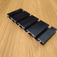 15180 Aluminum Extrusion Profile Wall Black Groove Width 8mm Length 600mm Industrial Aluminum Profile Workbench 1pcs