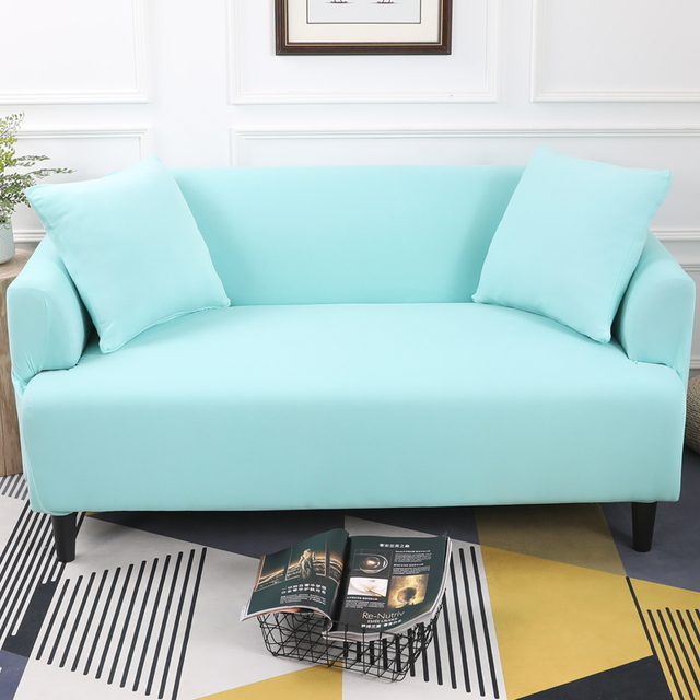 Sofa Blue Color Dfs Sky 1pc Elastic Tight Wrap All Inclusive Slip Resistant Cover Loveseat Slipcover Chair