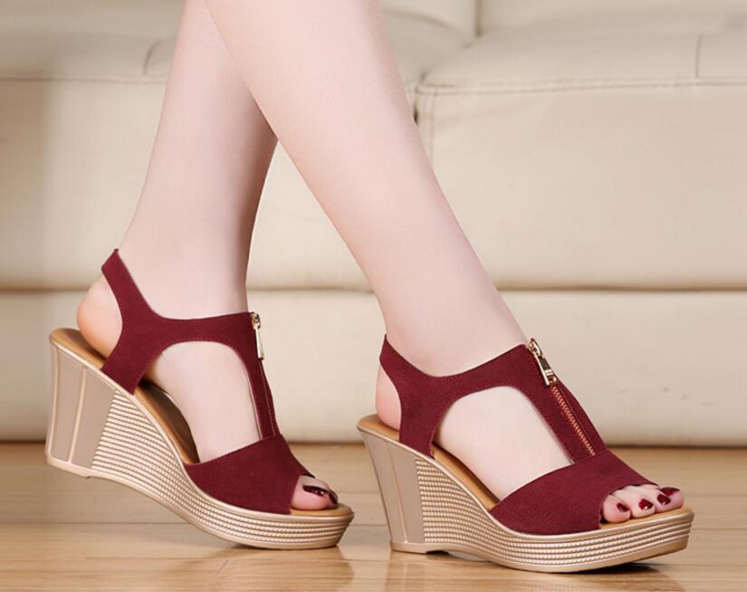 1918b035b0f15 Dropwow D Henlu 2018 Women Sandals Summer Platform Sandals High ...