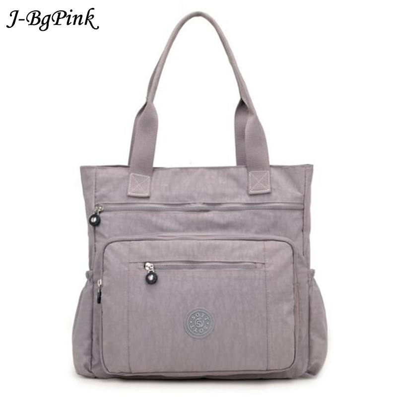 Women High-grade Nylon Handbag Casual Large Shoulder Bag Fashion High Capacity Tote Brand Design Waterproof Big Bag high quality waterproof nylon handbag brand pure color contracted firm travel bag more zipper women s shoulder bag fashion bag