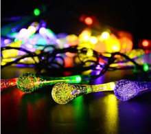 2.2 m 20 LED battery box water drop light string Garden Outdoor Christmas day decorative light string(China)