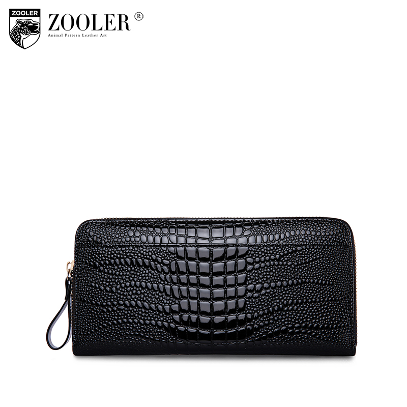 ZOOLER hottest genuine leather wallet designed 208 stylish WOMEN purse small wallet serpentine pattern coin long wallets #8903