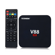 SCISHION V88 4 К Android 5.1 Smart TV Box 1 ГБ 8 ГБ Rockchip 3229 Quad Core Kodi Предустановленной 2.4 Г wi-fi HDMI Smart Media Player
