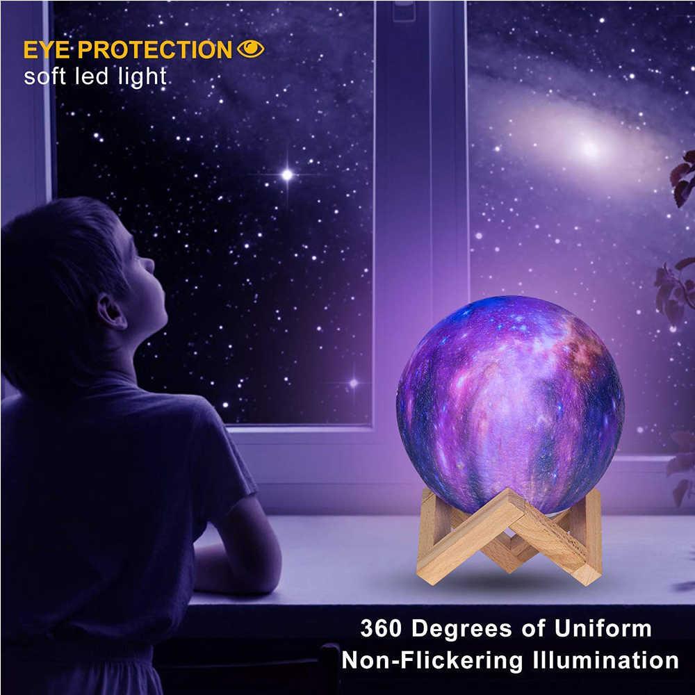HGhomeart 16 цветов звезда 3D Луна светодио дный светодиодный ночник Luminaria пульт дистанционного управления usb зарядка луна лампа