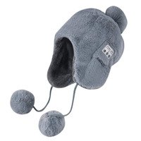 High Quality Winter Fox Fur Wireless Bluetooth Beanie Hat with Detachable Stereo Speakers & Microphone, Smart Music Beanie Hat