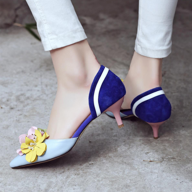 flowers spell color thin pointed closed toe designer fashion elegant simple shoes 2