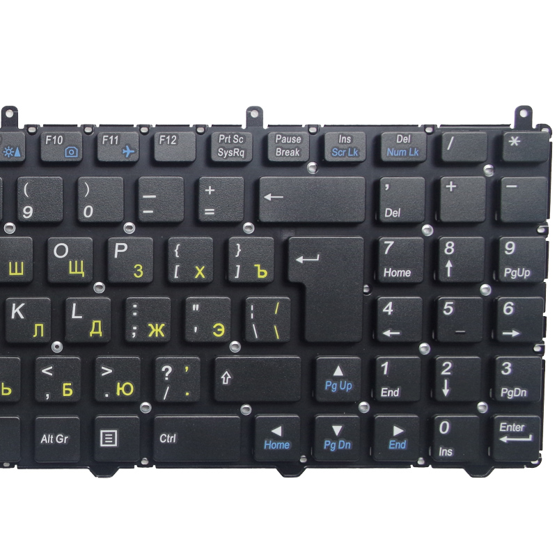 Image 4 - GZEELE RUSSIAN Keyboard for DNS Clevo W650 W650SRH W655 W650SR W650SC R650SJ W6500 W650SJ w655sc w650sh MP 12N76SU 4301 RU BLACK-in Replacement Keyboards from Computer & Office on