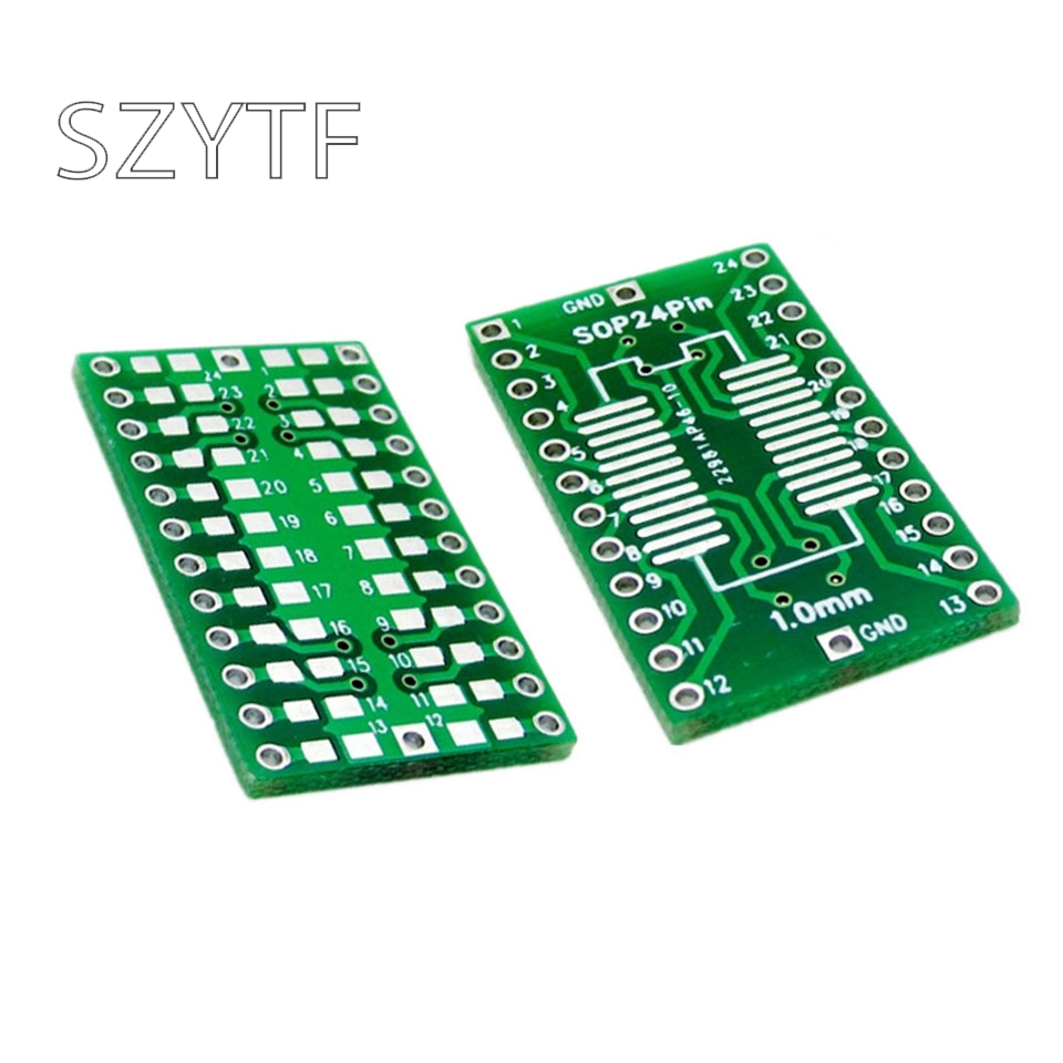 10pcs/bag SOP24 SSOP24 Adapter Board DIP 1.0mm Pitch SMD DIP Switch Adapter Plate