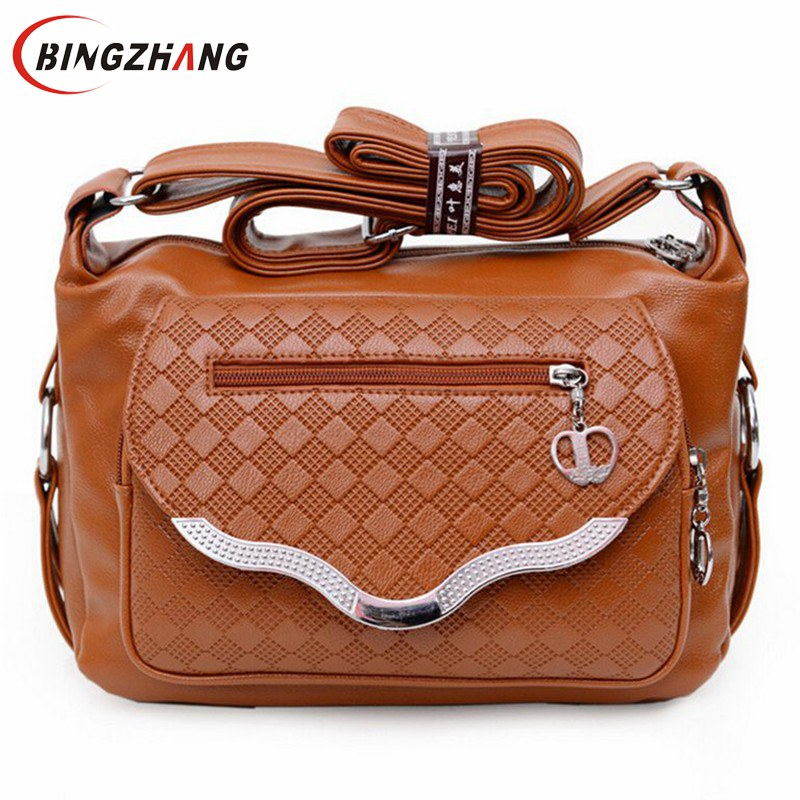 2017 women messenger bags leather handbag mid-age models shoulder bag crossbody mom handbags popular bag ladies L4-1583 2017 new crossbody bags for women candy colors messenger bag brand fashion ladies shoulder bag women leather handbag l4 2616