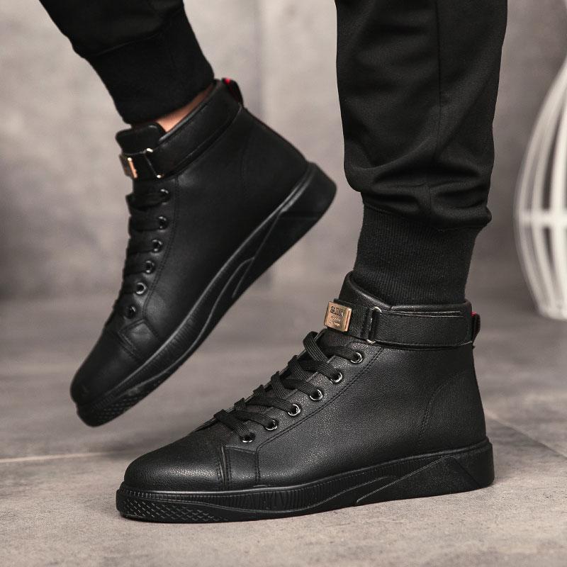 Zapatos Altos Moda Casual Para Hombre Botas De Trabajo Transpirables Deportivos