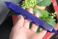 (175mm) bleu fusion QUARTZ BAGUETTE POINT de GUÉRISON