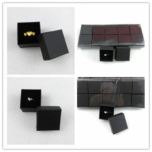 50PCS/lotFashion High Quality Ribbon Jewelry Box, Paper Ring Boxes, Earrings/Pendant Box 4*4*3 Display Packaging Gift Box