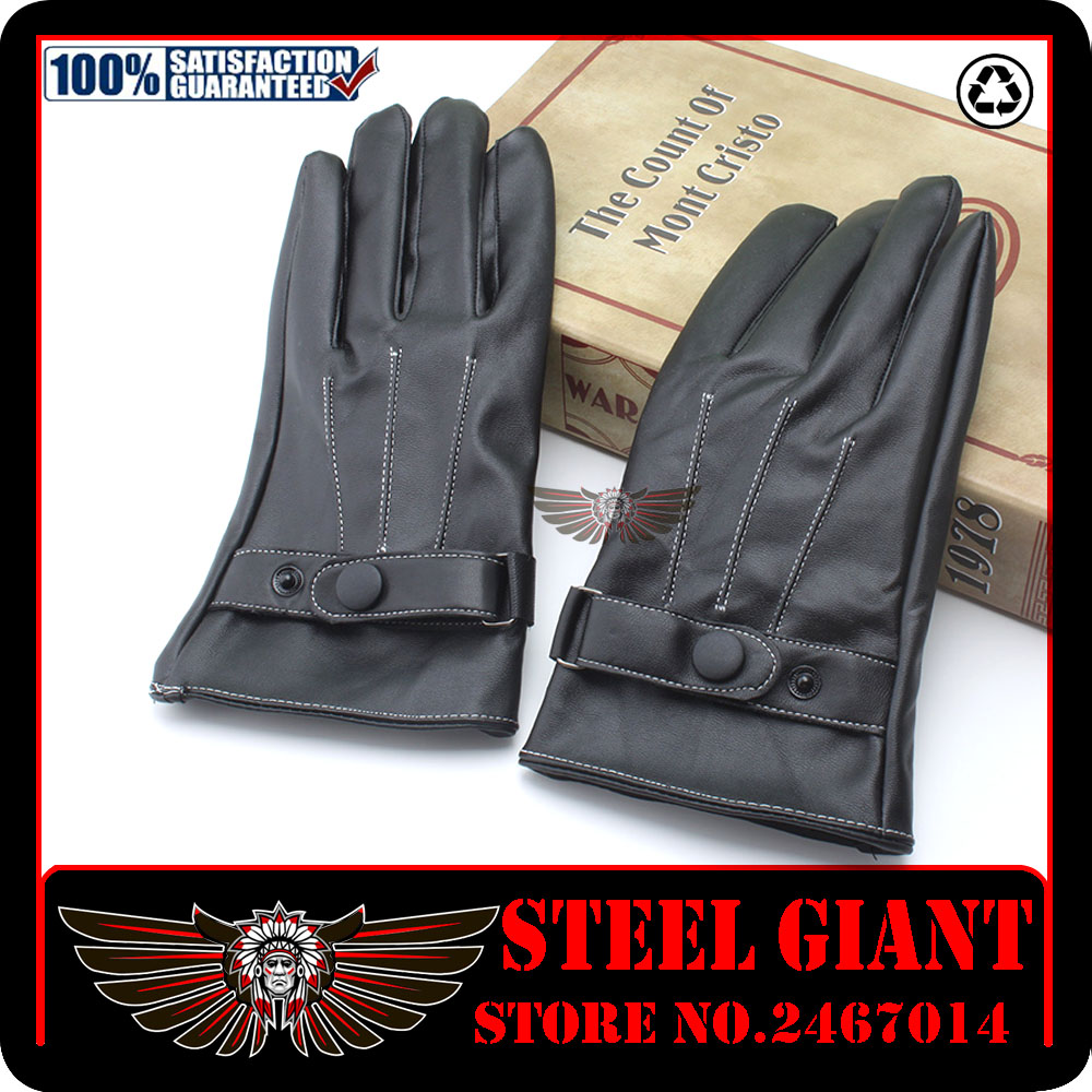 Yamaha motorcycle gloves india - 2017 Hot Sale For Harley Motorcyclists Leather Gloves Long Section Of Men S Leather Motorcycle Gloves