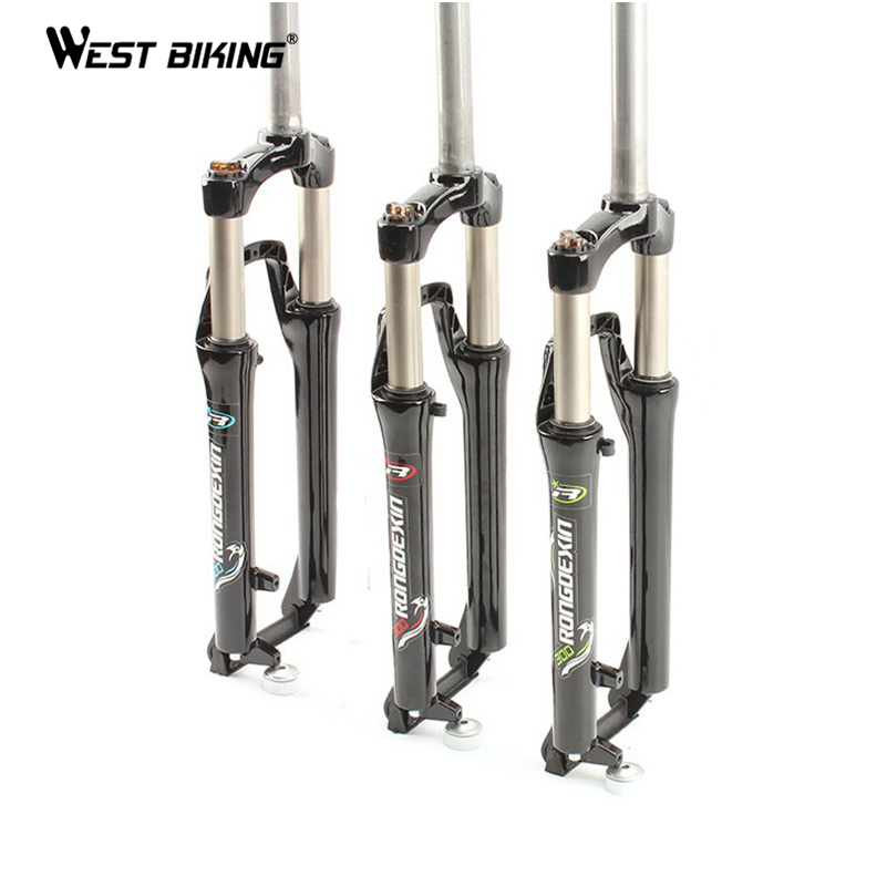 WEST BIKING Road Mountain Bicycle Fornt Fork Bike Cycling Shock Horquilla Bicicleta Cycling Part Ultralight 26 Bike Fork west biking aluminum alloy bicycle fork mountain bike front shock road bicycle fork carbon fiber cycling bike parts frame fork