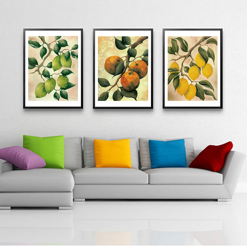 Vintage Chinese Style Apple Fruits Poster And Print Canvas Painting Dining Room Decoration Wall Art Picture For Kitchen No Frame