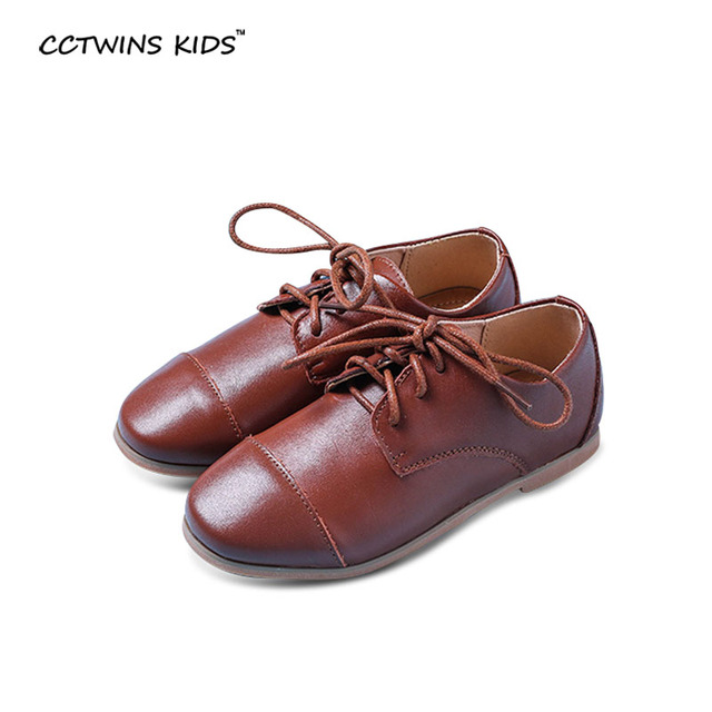 CCTWINS KIDS autumn  children genuine leather shoes baby girls casual shoes boys black flats brand school shoes student shoes