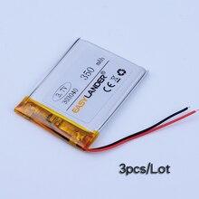 3pcs/Lot 3.7V 350mAh Rechargeable li Polymer Li-ion Battery For Flash lighting DIY PAD Consumer electronics Device 033040 303040