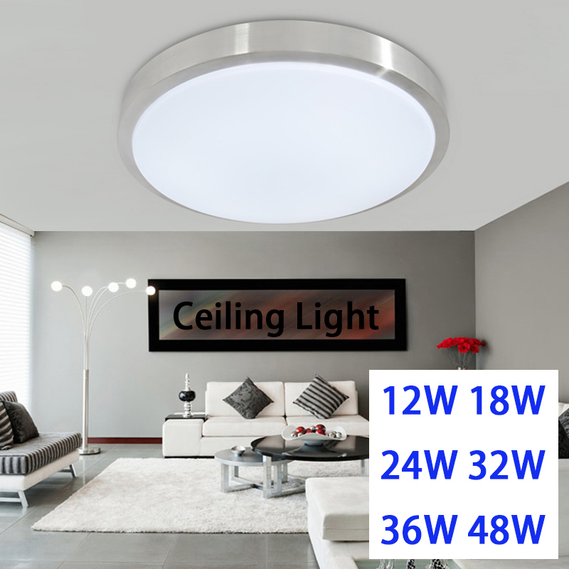 LED Ceiling light 12W 18W 24W 36W 48W lamp Acrylc panel Aluminum frame edge indoor lighting Bedroom living kitchen LED light american country bedroom corridor balcony lamp led 12w 18w 24w round led ceiling light indoor lighting lamps ac 110v 220v