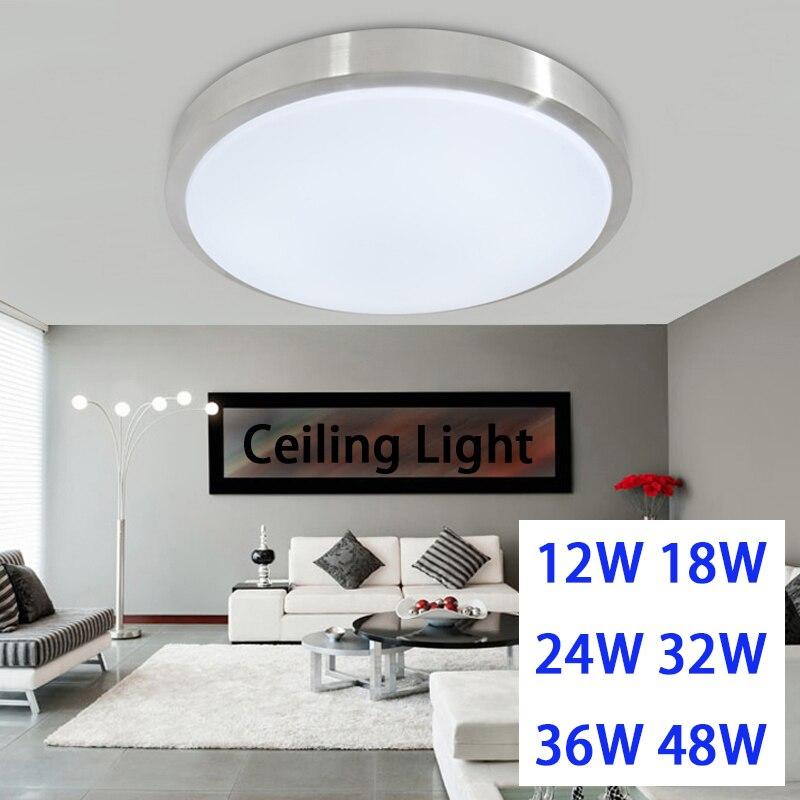 Led-deckenleuchte 12 watt 18 watt 24 watt 36 watt 48 watt lampe Acrylc panel Aluminium rahmen rand innen beleuchtung Schlafzimmer wohnzimmer küche LED licht