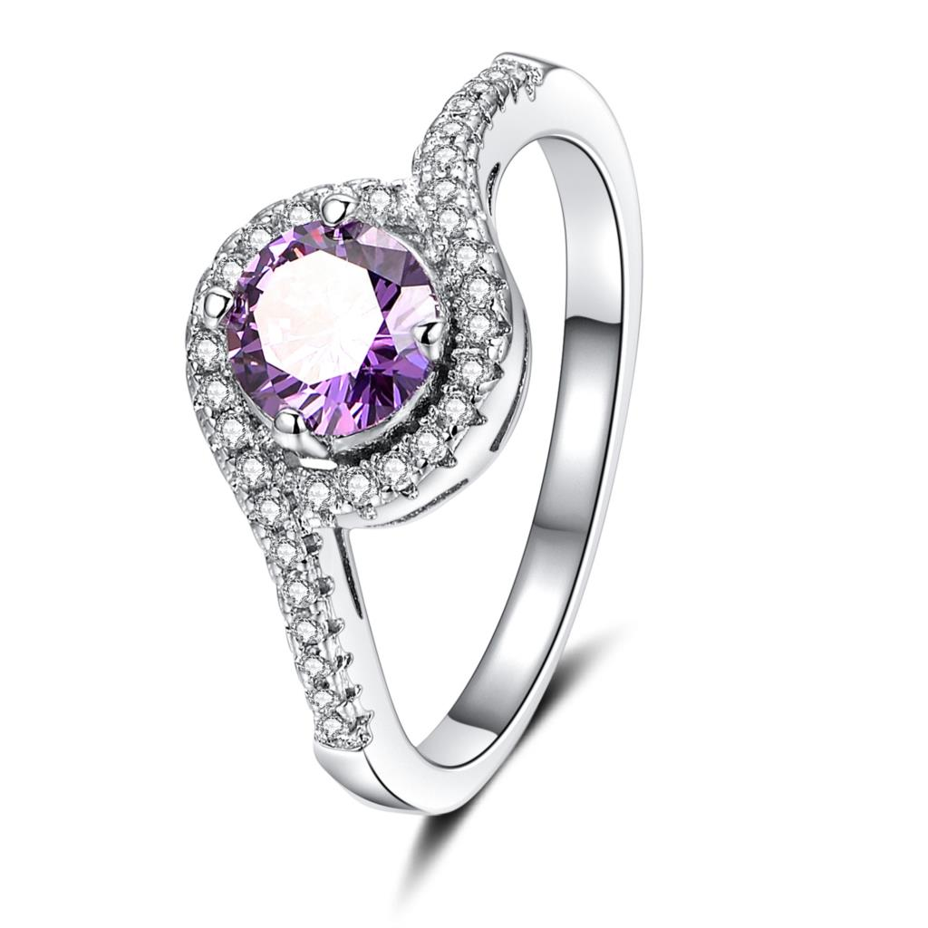 Charm Lovers Ring Bijoux Femme Fashion Jewelry Bijoux Silver Crystal Engagement Wedding Rings For Women Love Gift