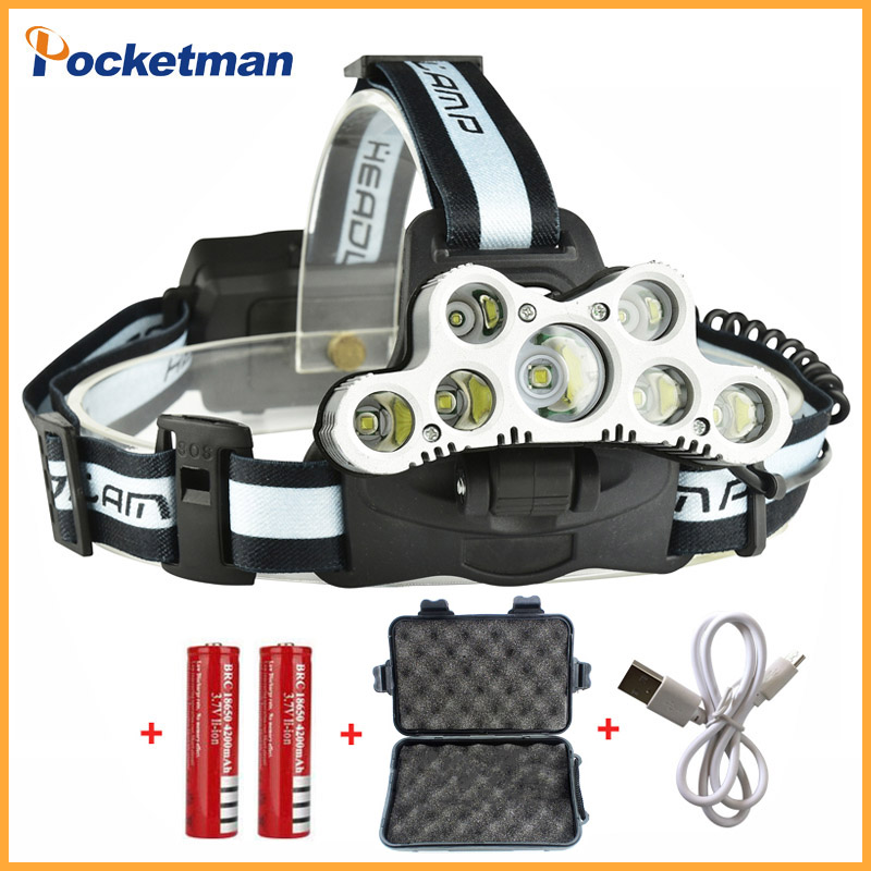 Super Bright USB 9 CREE LED Led Headlamp Headlight head flashlight torch cree XM-L T6 head lamp rechargeable for 18650 battery e17 cree xm l t6 2400lumens led flashlight torch adjustable led flashlight torch light flashlight torch rechargeable