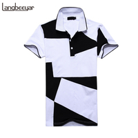 Mens T Shirts Fashion 2017 Summer Turn Down Collor Slim Fit Short Sleeve T Shirt Men