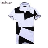 Mens T Shirts Fashion 2017 Summer Turn Down Collor Slim Fit Short Sleeve T Shirt Men