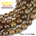 China Tibetan Dzi Eyes beads Natural agate Stone Buddhism Round Loose beads ball 8/10/12MM beads for jewelry making bracelet DIY