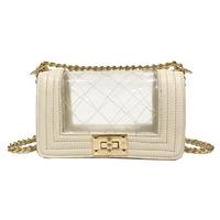 2019 new PVC women purses and handbags chain shoulder messenger bags