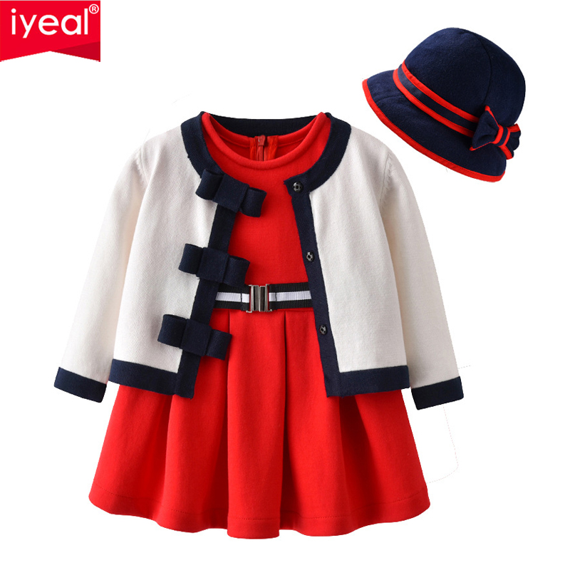 IYEAL Child Women' Costume Units three Items Set Birthday Celebration Clothes Cardigan,Hat Christening Costume Toddler Clothes Outfits 0-4Year Clothes Units, Low cost Clothes Units, IYEAL Child Women' Costume Units...