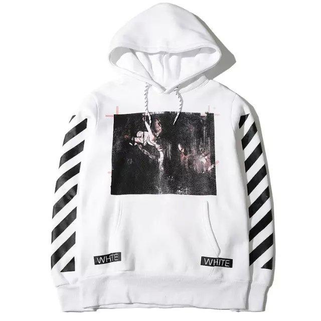fe1529d684b4 OFF WHITE C O VIRGIL ABLOH religion stripe hooded Pyrex vision men  Euramerican sweatshirt high quality street fashion hoodie on Aliexpress.com