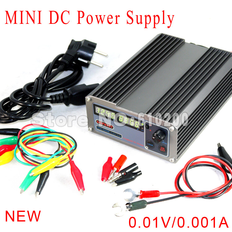 ФОТО Freeshipping New Arrivals precision Digital Adjustable MINI DC Power Supply OVP/OCP/OTP 32V5A 110V-230V 0.01V/0.001A EU+ cable