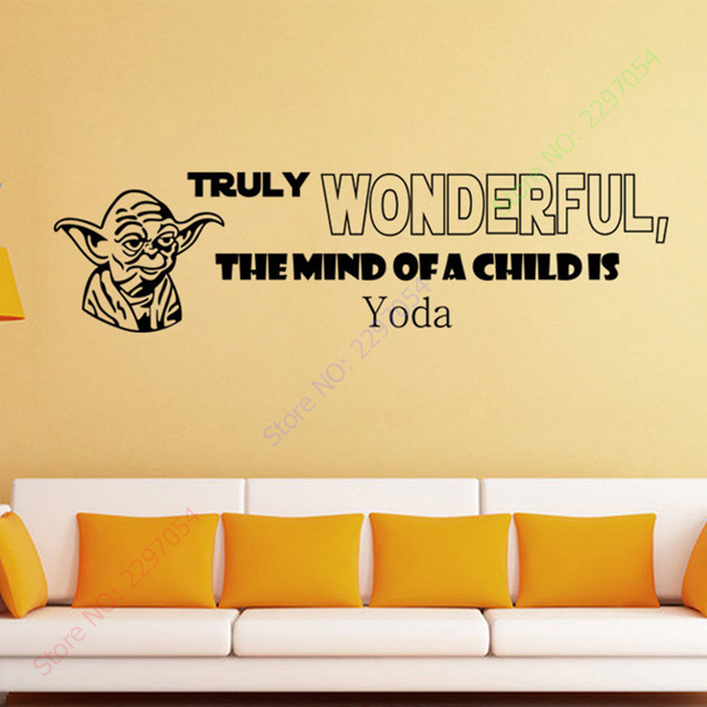 Star Wars Quote Wall Decals Truly Wanderful Sayings Decor Vinyl Wall  Sticker Murals Boyu0027s Rooms In