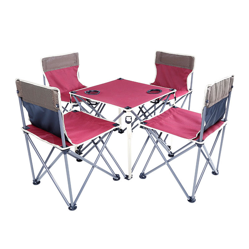 Garden Sets Chair With Table Iron Oxford Fast Shipping Green Red Thickening Folding Backpack Outdoor Camping Furniture Set