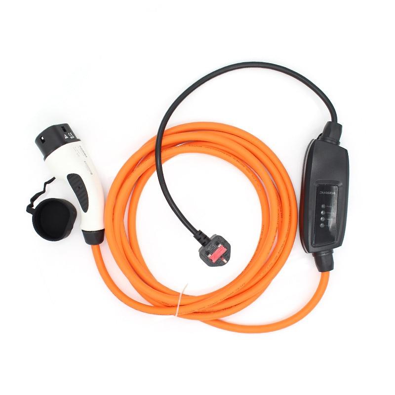 Européenne Prise Standard IEC 62196-2 Type 2 Duosida niveau 2 Charge Câble 5 Mètre 10Amp ROYAUME-UNI Plug Pistolet type 2 EV Chargeur