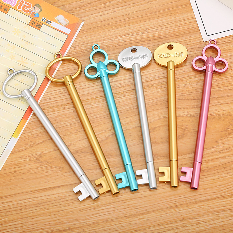 120 PCs creative stationery key modelling neutral pen cute cartoon learning office retro water based signature