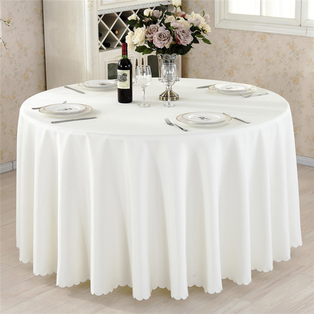Mordern Polyester Round Table Cloth Fabric Rectangular Tablecloth Hotel Party Wedding Tablecloth Dining and Coffee Table