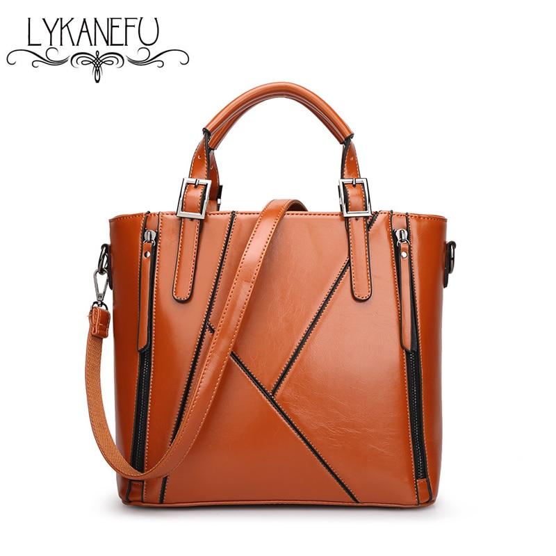 Lykanefu bolso del monedero del totalizador bolsos de cuero de las mujeres  bolsa Top mango bolsa feminina bolsos de diseño de alta calidad SAC a main 03cc2396209