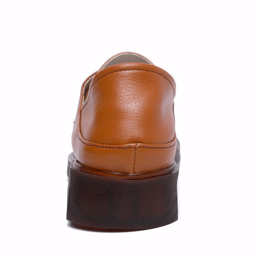 Chaussures Unique La Conduite Doux noir Taille Plat Mocassins En Véritable Appartements marron Casual Femmes 2018 Cuir Beige Plus Laçage Nouveau Gktinoo aqvwXa