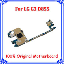 for LG G3 D855 16GB or 32GB Mainboard Original unlocked Motherboard with Android System,Complete Logic Boards for G3 D855 plate(China)