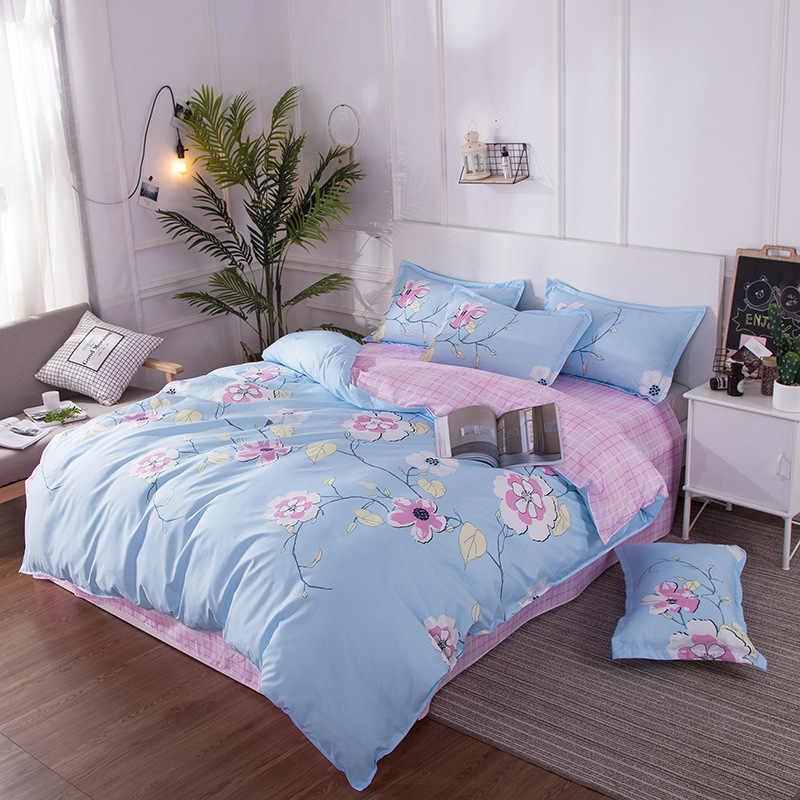 Duck Pattern Blue Pink Duvet Cover Sets Quilt Comforter Pillow Case Soft Cotton Bed Linens Kids Single Double Queen Size24