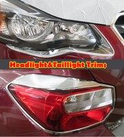 Front Scheinwerfer Lampe & Hinten Rücklicht Abdeckung Trim Garinsh Für Subaru XV 12-13