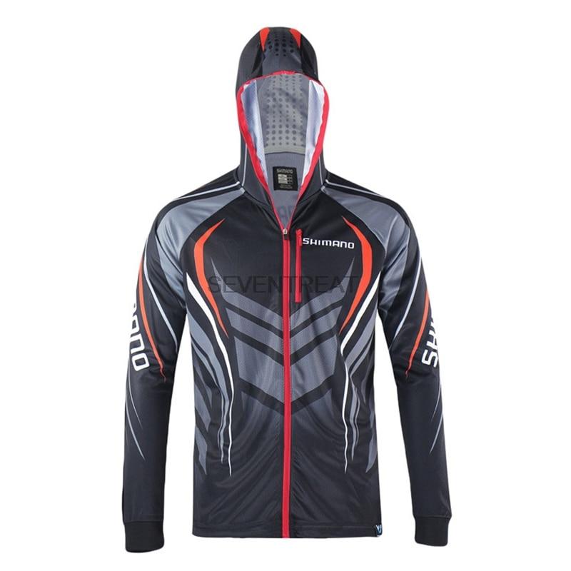 2017 men brand shimano fishing clothing uv protection for Uv fishing shirts