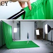 באיכות גבוהה 1.8m x 2.7m הכותנה תאורה ו מסך ירוק מוסלין רקע בד רקע עבור תמונה תאורת סטודיו PSB3C